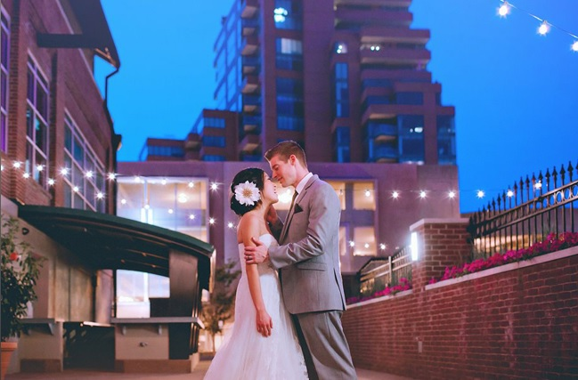 Adorable outdoor wedding event on our patio