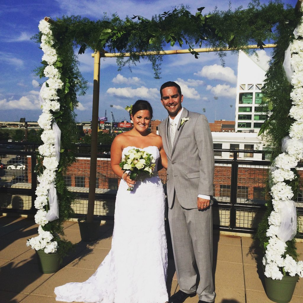 rooftop wedding, ceremony, Louisville wedding, The Ice House